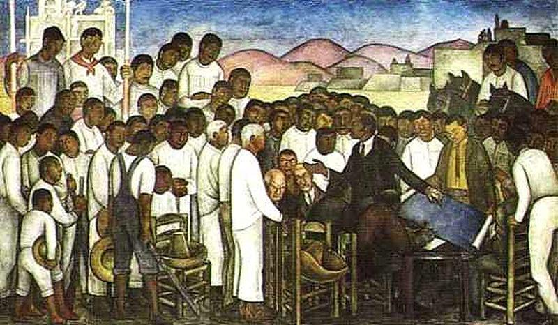 null of le pays ., fresques de Diego Rivera (1886-1957, Mexico)