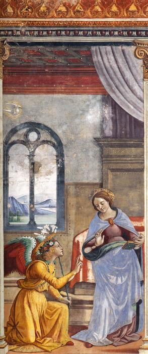 lannonciation, fresques de Domenico Ghirlandaio (1449-1494, Italy)