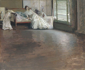 Edmund Charles Tarbell - à travers le chambre