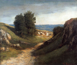 Gustave Courbet - paysage guyere