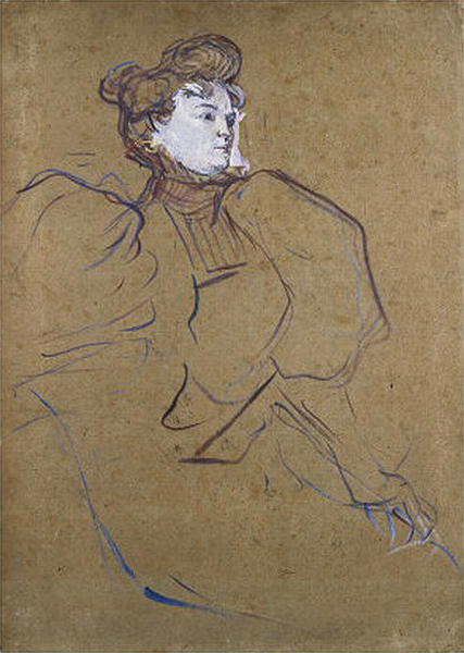 Portrait de Misia Natanson de Henri De Toulouse Lautrec (1864-1901, Second French Empire)