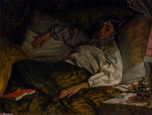 James Jacques Joseph Tissot - a inclinable dame