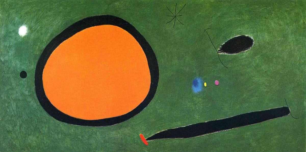 Bird's Vol en Clair de lune, 1967 de Joan Miro (1893-1937, Spain)