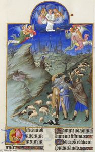Limbourg Brothers - le annonciation à l- `shepherds`
