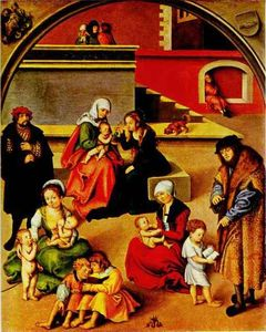 Lucas Cranach The Elder - le saint famille