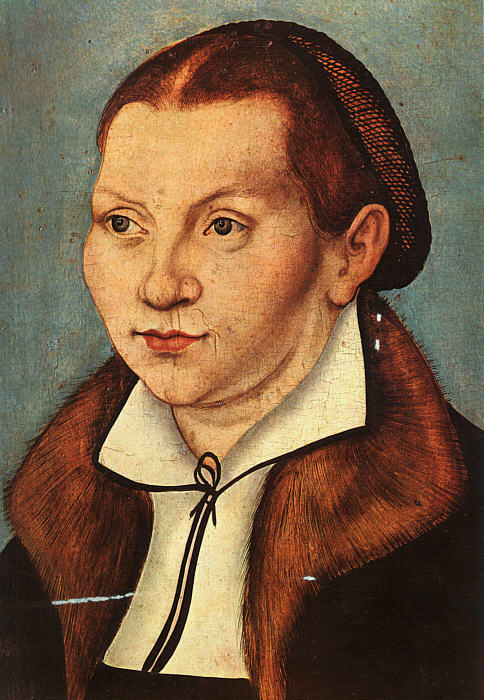 Katharina Luther, huile sur toile de Lucas Cranach The Elder (1472-1553, Germany)