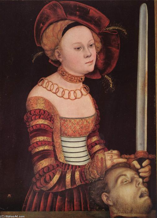 Judith, huile de Lucas Cranach The Elder (1472-1553, Germany)