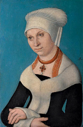 Portrait de Barbara, duchesse de Saxe, 1500 de Lucas Cranach The Elder (1472-1553, Germany)