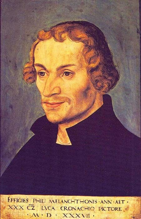 Philipp Melanchthon, 1537 de Lucas Cranach The Elder (1472-1553, Germany)