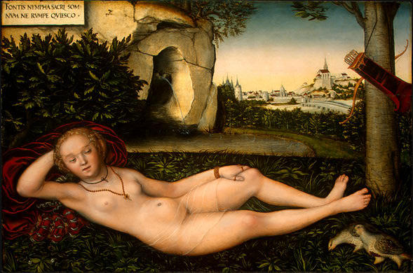 le `nymph` de l' printemps, 1540 de Lucas Cranach The Elder (1472-1553, Germany)