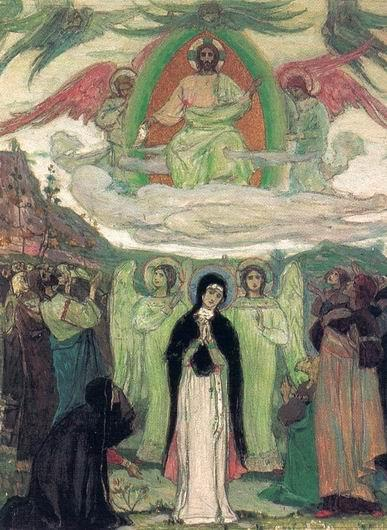 Ascension, 1895 de Mikhail Nesterov (1862-1942, Russia)