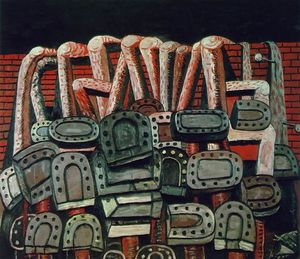 Philip Guston - antique Applique murale