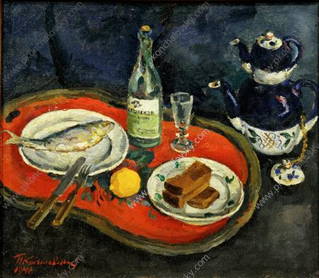 Still Vie . It's temps tea ., 1946 de Pyotr Konchalovsky (1876-1956, Russia)