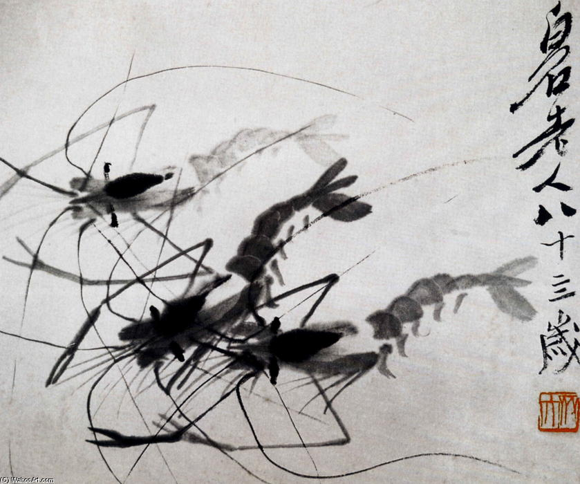 crevette de Qi Baishi (1864-1957, China)