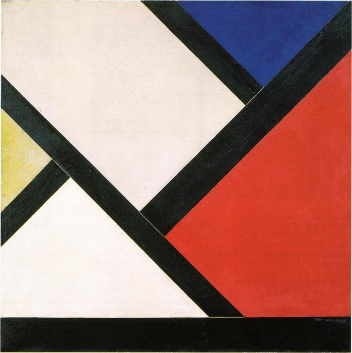 composition Counter XIV, 1925 de Theo Van Doesburg (1883-1931, Netherlands) | ArtsDot.com