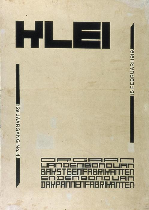 Conception de la couverture pour le magazine ''Klei'', 1920 de Theo Van Doesburg (1883-1931, Netherlands)
