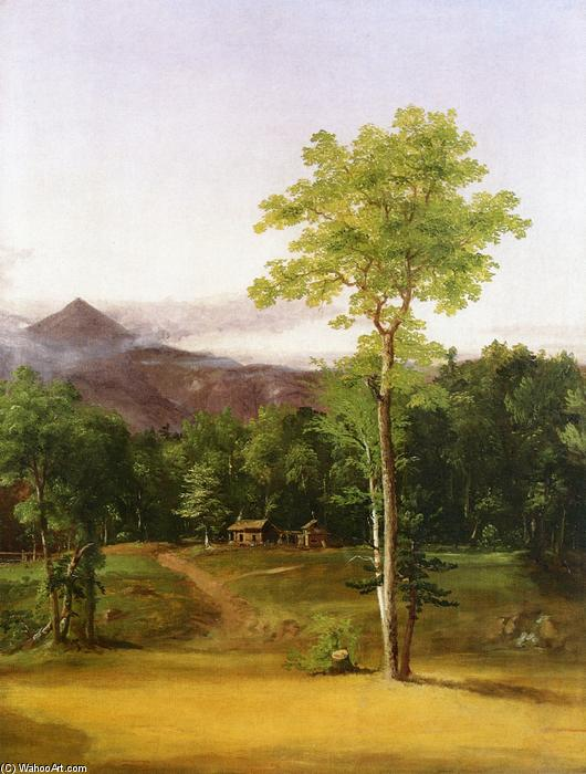 Cabin in the Woods, North Conway, New Hampshire, huile sur toile de Thomas Cole (1801-1848, United Kingdom)
