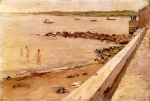 William Merritt Chase - le baigneurs