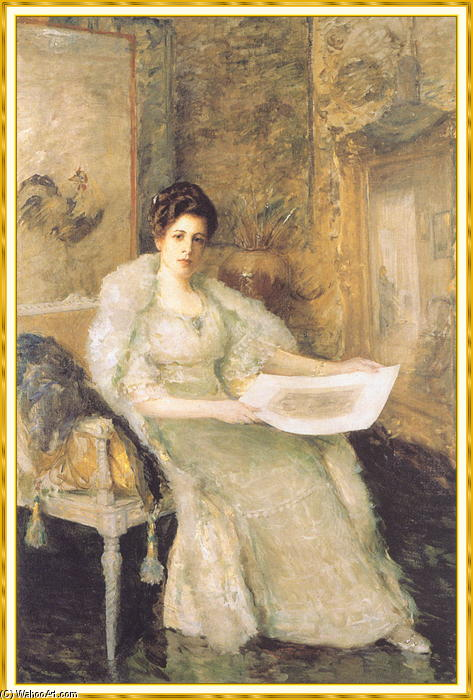 Portrait de Susan Watkins de William Merritt Chase (1849-1916, United States)