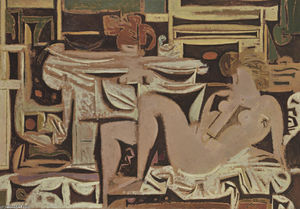 Yiannis Moralis - Composition funéraire II