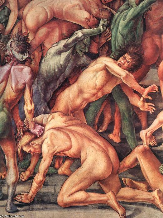 The Damned (détail), fresques de Luca Signorelli (1445-1523, Italy)