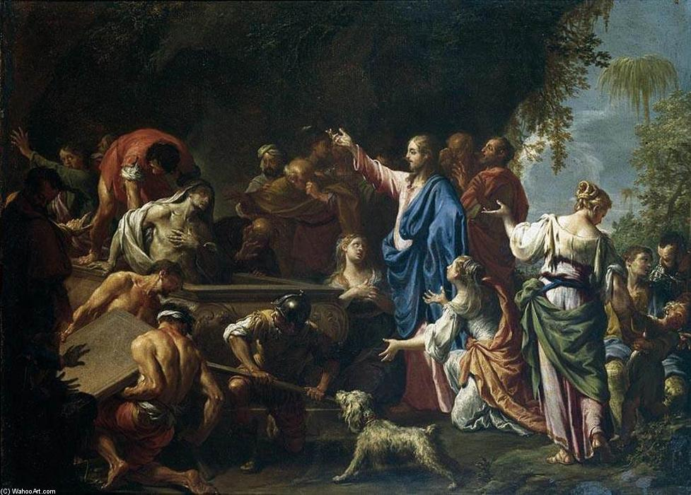 La résurrection de Lazare de Francesco Trevisani (1656-1746, Italy) | Copie Tableau | ArtsDot.com