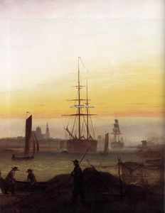 Caspar David Friedrich - Greifwald Port