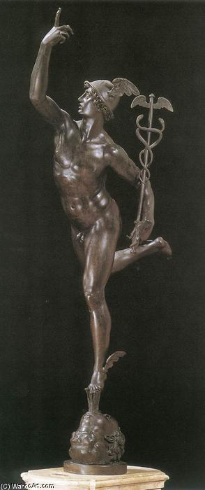Mercury (vue de face), bronze de Giambologna (1529-1608, France)