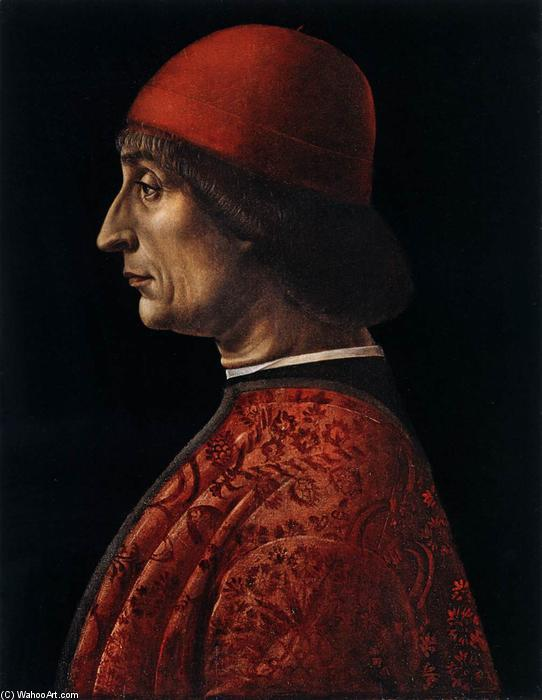 Portrait à of Giovanni Francesco Brivio, lambris de Vincenzo Foppa (1427-1515, Italy)