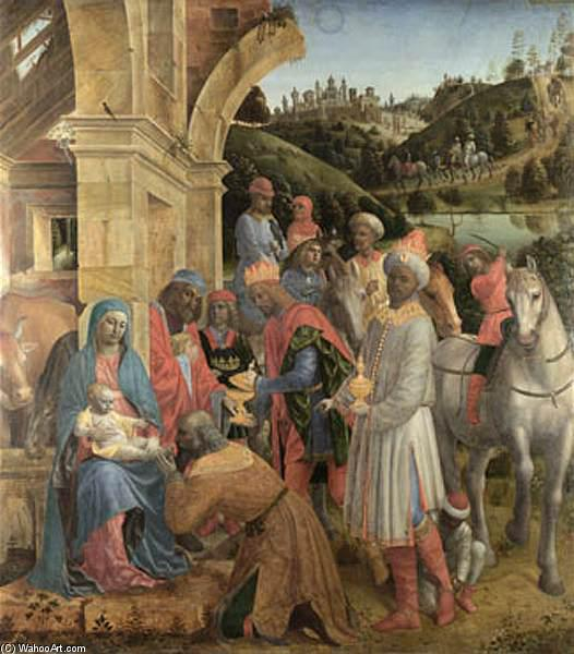 le adoration de l' `kings, lambris de Vincenzo Foppa (1427-1515, Italy)