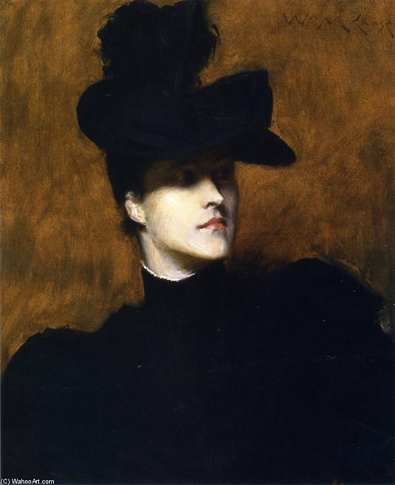 Lydia Champ Emmet, huile sur toile de William Merritt Chase (1849-1916, United States)