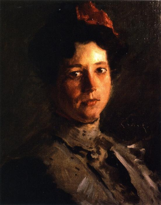 Martha Walter, huile sur toile de William Merritt Chase (1849-1916, United States)