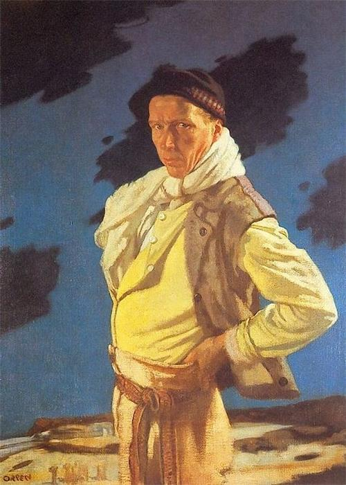L homme de Aran, huile sur toile de William Newenham Montague Orpen (1878-1931, Ireland)