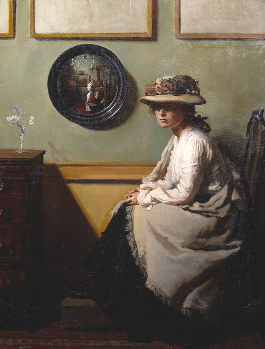 le miroir, 1900 de William Newenham Montague Orpen (1878-1931, Ireland)