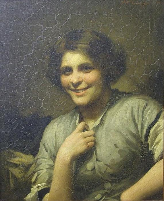 Molly, la femme de chambre de l auberge de Thomas Benjamin Kennington (1856-1916, United Kingdom)