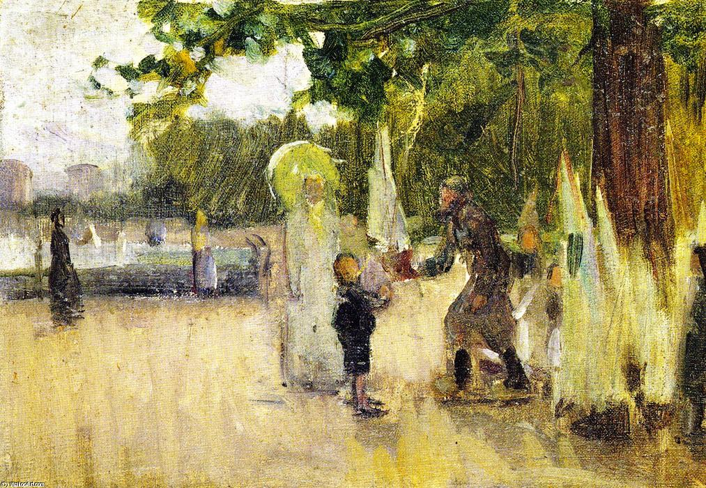 l'homme qui  loué  embarcations , huile sur toile de Henry Ossawa Tanner (1859-1937, United States)