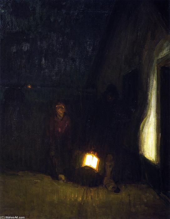 nuit, huile sur toile de Henry Ossawa Tanner (1859-1937, United States)