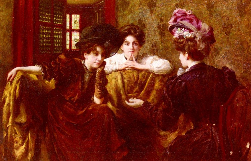 Pas de Gossip de Thomas Benjamin Kennington (1856-1916, United Kingdom)
