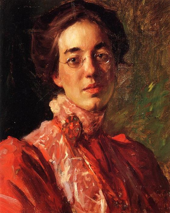 portrait d elizabeth  (commander Fine Art Impression sur toile William Merritt Chase)