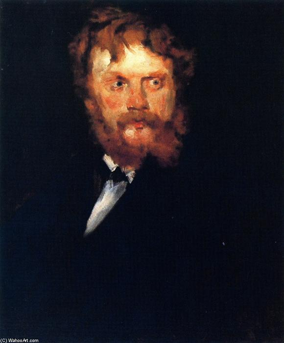 portrait de m . Drindel, huile sur toile de William Merritt Chase (1849-1916, United States)