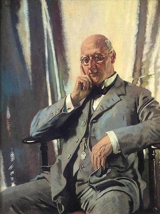 portrait de m Francis Henri edward livesay de William Newenham Montague Orpen (1878-1931, Ireland)