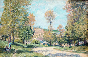 Alfred Sisley - route vers louveciennes