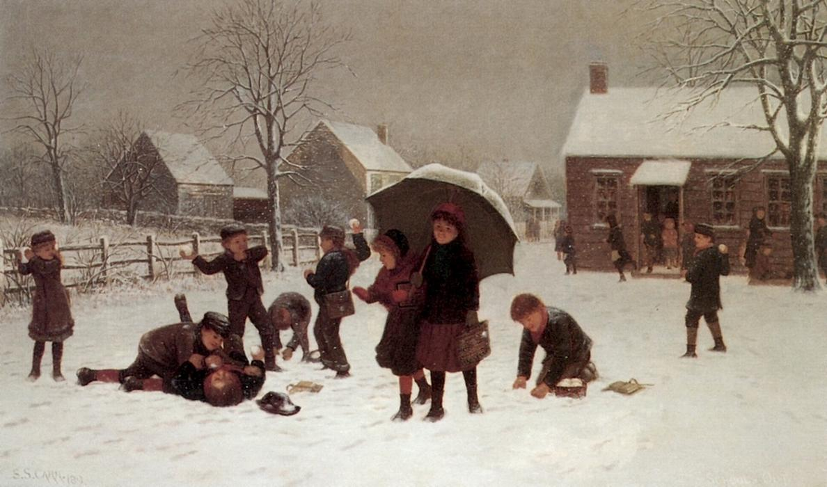 Out de l école, 1889 de Samuel S Carr (1837-1908, United Kingdom) | Copie Tableau | ArtsDot.com