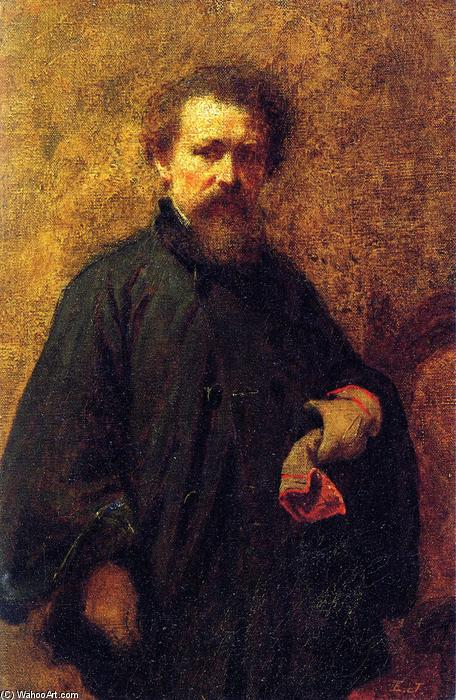 portrait d`individu, 1860 de Jonathan Eastman Johnson (1824-1906, United Kingdom) | Copie Tableau | ArtsDot.com