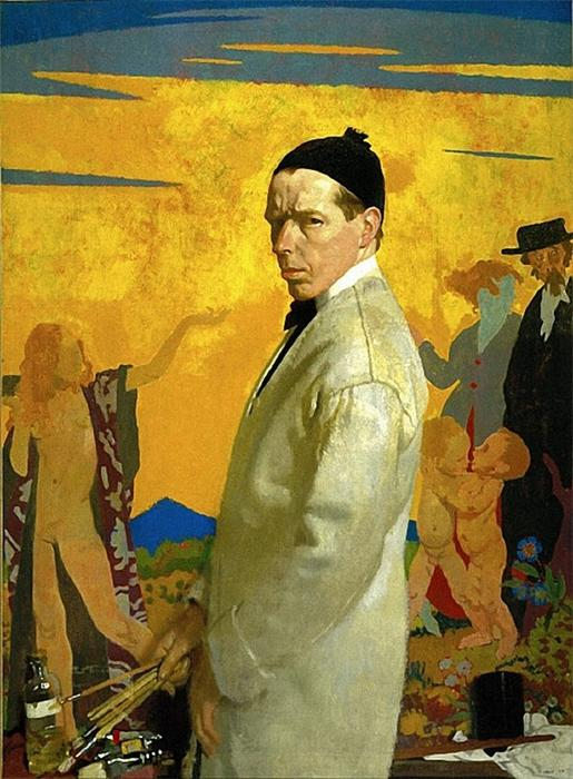 auto-portrait, 1913 de William Newenham Montague Orpen (1878-1931, Ireland)