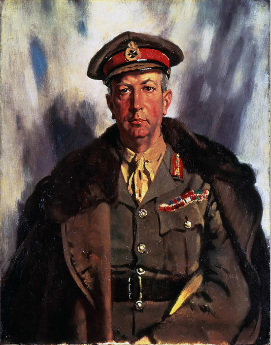 Sir Arthur Currie, huile sur toile de William Newenham Montague Orpen (1878-1931, Ireland)