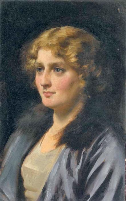 Stella, huile sur toile de Thomas Benjamin Kennington (1856-1916, United Kingdom)