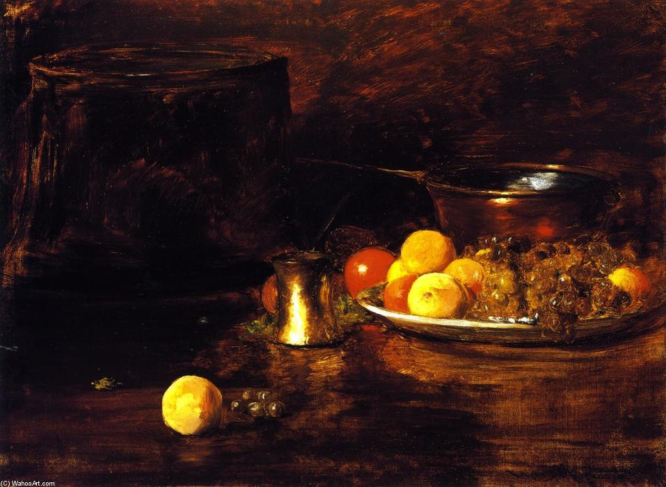 nature morte, huile sur toile de William Merritt Chase (1849-1916, United States)
