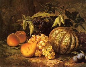 William Mason Brown - Nature morte avec Cantalo..