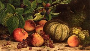 William Mason Brown - nature morte au melon , R..